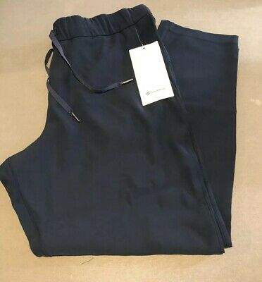 $ CDN53.62 • Buy NWT Lululemon Size 12 On The Fly 7/8 Pant *Woven Navy Blue TRNV $118