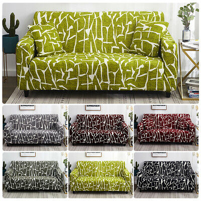 AU47.65 • Buy 1-4 Seater Elastic Sofa Covers Couch Art Slipcover Stretch Settee Protector