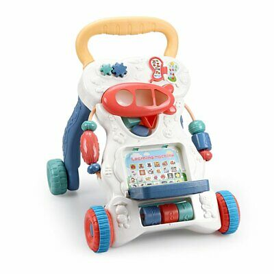 Interactive Baby Walker First Steps Push Along Bouncer Activity Music Melody Toy • 5£