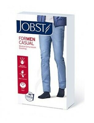 AU45.19 • Buy * Jobst For Men Knee High Casual Compression Socks 15-20mmHg Black Large