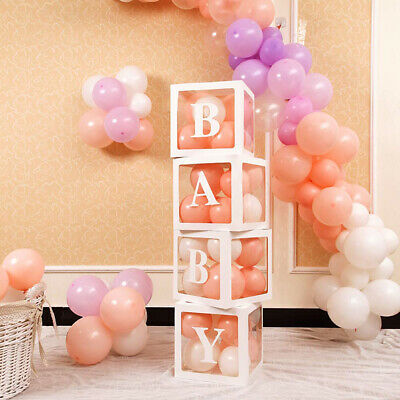 AU25.39 • Buy 4Pcs/Set Transparent Balloon Box Wedding Love Baby Valentine's Day Decor