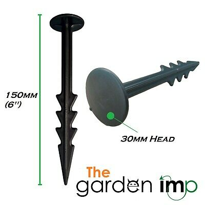 £7.99 • Buy Heavy Duty Ground Cover Pegs 6  150mm Weed Control Membrane Fabric Fixing Anchor