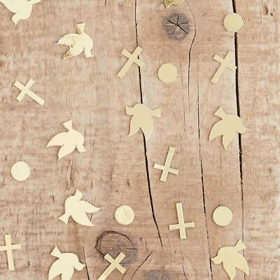 £3.99 • Buy Gold First Holy Communion Doves Crosses Table Confetti Party Decoration