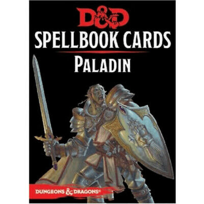 AU22.49 • Buy D&D Spellbook Cards Paladin Revised - Dungeons And Dragons