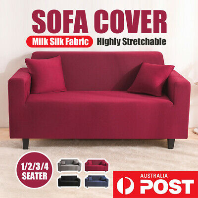 AU24.29 • Buy Sofa  ModernSofa Cover Stretch Elastic Couch Slipcover Cotton 1/2/3/4 Seater