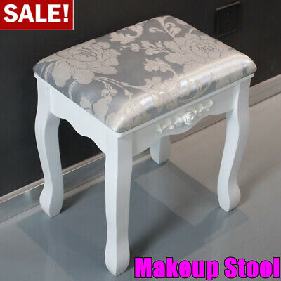 Vintage Dressing Table Stool Soft Cushioned Room Seat Makeup Bench Piano Chair • 19.99£
