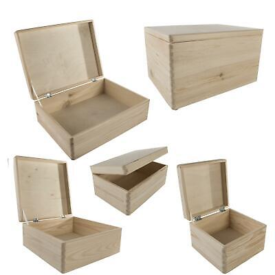 £14.95 • Buy Most Popular Plain Wooden Boxes To Decorate For Christmas Eve| Choice Of Sizes