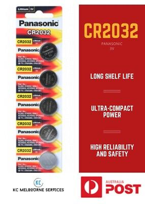 AU6 • Buy Panasonic CR2032/CR2025/CR2016 Lithium 3V Coin Cell Battery- 1 Piece/ 5 Pieces