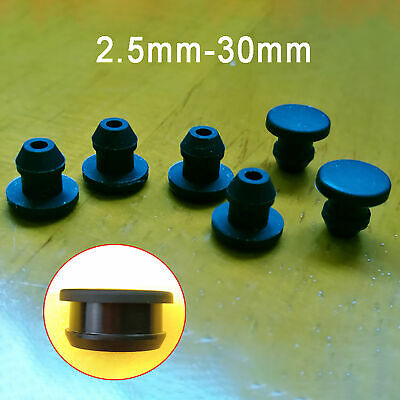 AU19.75 • Buy Snap-on Hole Plugs Silicone Rubber Blanking End Caps Pipe Tube Inserts 2.5-30mm