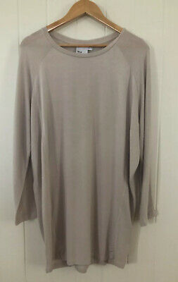 AU15 • Buy ASOS CURVE Size 16 18 Taupe Long Sleeve Relaxed Fit Fine Viscose Knit Jumper Top