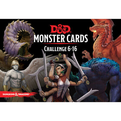 AU30.49 • Buy D&D Spellbook Cards Monster Cards Challenge 6-16 - Dungeons And Dragons