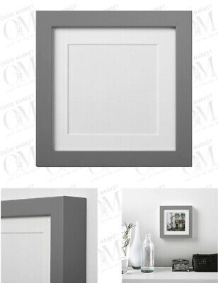 IKEA RIBBA Grey Photo Picture Frame Home Decor Grey 15x15 Cm Deep Wall Mounting • 9.99£