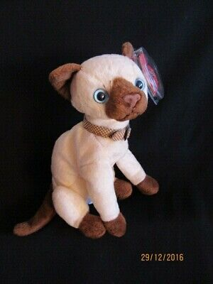 £7.99 • Buy  Ty Beanie Baby Siam - Siamese Cat - Mint - Retired With Tags