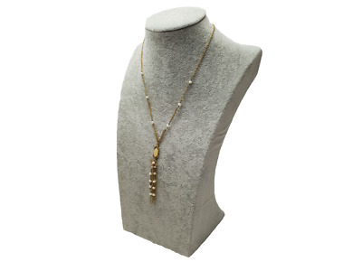 £6 • Buy Pendant Necklace Gold Link Chain Simulated Pearls Cameo Detail Drop By Senze