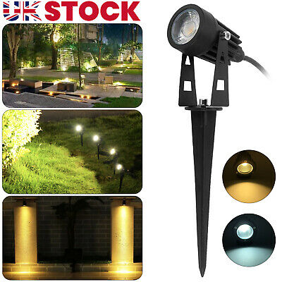 LED Garden Spike Spotlight Lights Outdoor Garden Yard Lawn Lamp Waterproof • 7.99£