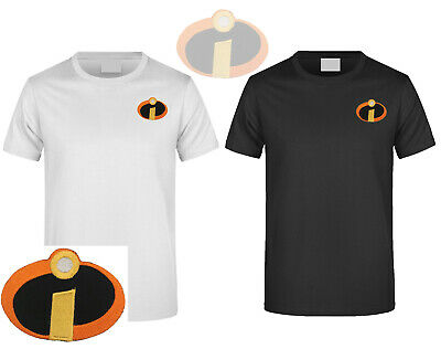 THE INCREDIBLES MOVIE Embroidered DIY T-Shirt Men's Logo Short Sleeved • 7.99£