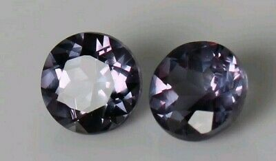 AU2.25 • Buy 3.90 Ct Natural Alexandrite Pair Certified Color Change In Sunlight Gemstone