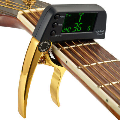 $ CDN19.10 • Buy Guitar Alloy Capo Clamp Key Tuner Trigger Tune Acoustic Professional With LCD
