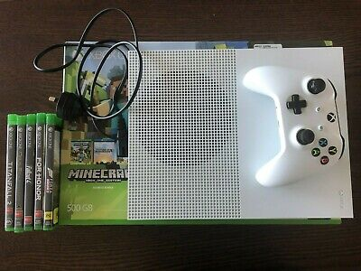 AU167.50 • Buy Microsoft Xbox One S 500 GB White Console With 5 Bonus AAA Games