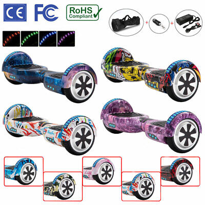 """View Details Hoverboard 6.5"""" Electric Scooters Bluetooth LED 2 Wheels Lights Balance Board • 128.00£"""