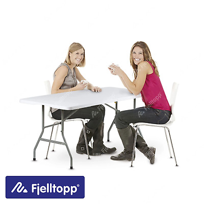 £54.99 • Buy Fjelltopp® 6ft 180cm Heavy Duty Folding Trestle Table Portable Camping Events