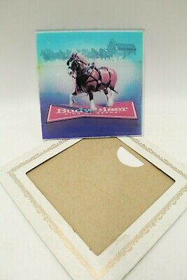 $ CDN24.84 • Buy Vintage Prize Mirror Budweiser Clydesdale Horse Glass Picture
