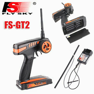 FS-GT2 2CH 2.4GHz Radio Remote Control Transmitter Receiver RC Car Boat UK Stock • 20.09£
