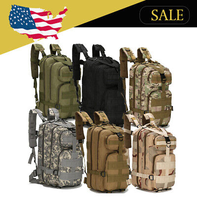 $14.56 • Buy Military Camping Hiking Travel Tactical Bag Camping Backpack 28L Outdoor US