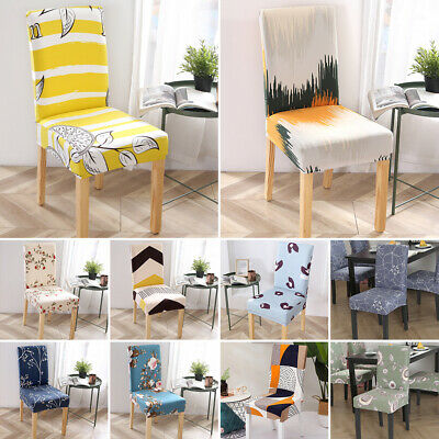 AU39.98 • Buy 2/4/6PCS Dining Chair Seat Covers Slip Stretch Wedding Banquet Party Removable