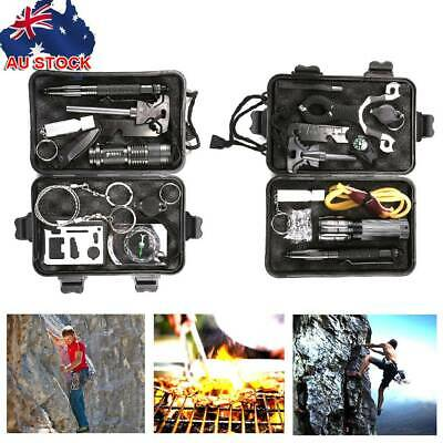 AU21.99 • Buy Emergency Survival Equipment SET Outdoor Sports Tactical Hiking Camping Tool KIT
