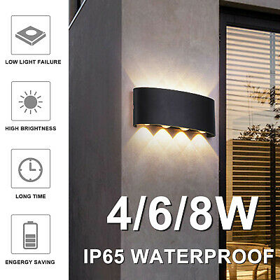 IP65 Sconce Outdoor LED Wall Lamp Garden Corridor Balcony Up Down Lights 4/6/8W • 12.59£