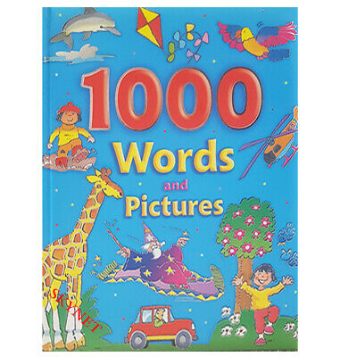 £9.99 • Buy CHILDRENS KIDS XLARGE GORGEOUS PADDED 1000 Words & Pictures Book By BROWN WATSON
