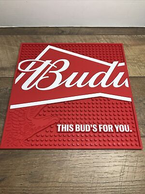 $ CDN32.71 • Buy Budweiser Beer This Buds For You. Service Bar Station Mat Decor Man Cave New