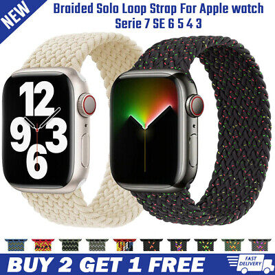 $ CDN17.09 • Buy New IWatch Solo Loop Strap Silicone Bands For Apple Watch Band 44mm 38mm 42mm