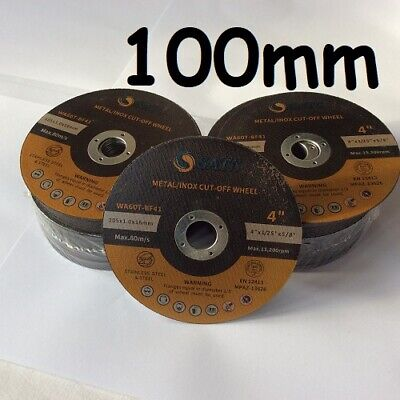 £4.75 • Buy 100mm Metal Cutting Slitting Disc Ultra Thin 1mm For Angle Grinder