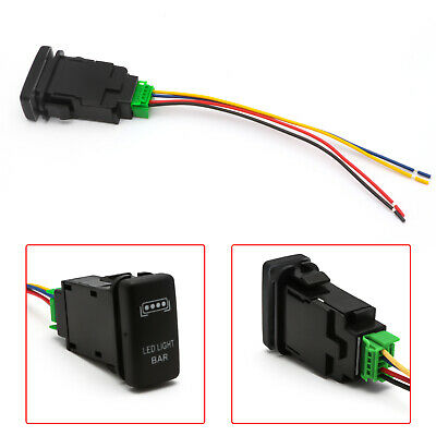 $10.99 • Buy 1x OE LED LIGHT BAR Push Button Switch W/ Wiring Indicator Light Kit For Toyota