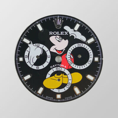 $ CDN350.18 • Buy Black Mickey Mouse Dial For Rolex Daytona 116520, 116500,... (4130)