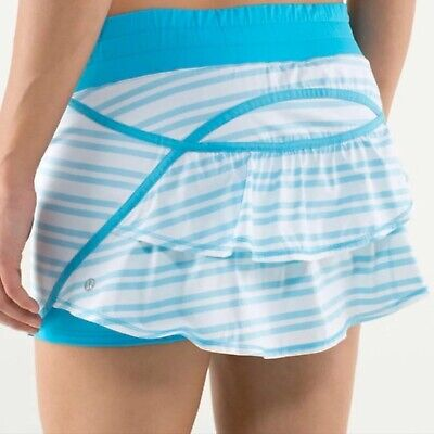 $ CDN82.47 • Buy Lululemon Mini Skirt Skort Ruffles White Turquoise Size 10