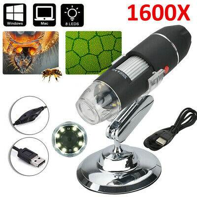 3 In 1 1600X 8LED USB Microscope Digital Electronic Magnifier Camera W/ Stand UK • 11.98£