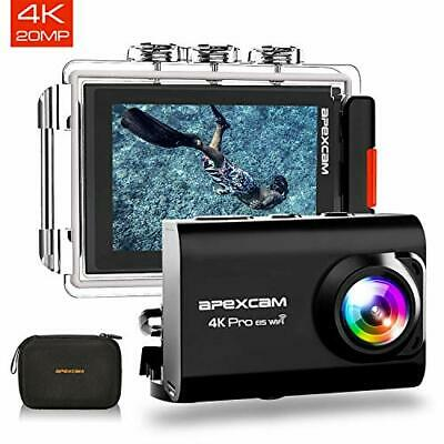 [2020 New] Apexcam Pro EIS Action Camera 4K 20MP WiFi Sports Camera Underwater • 61.99£