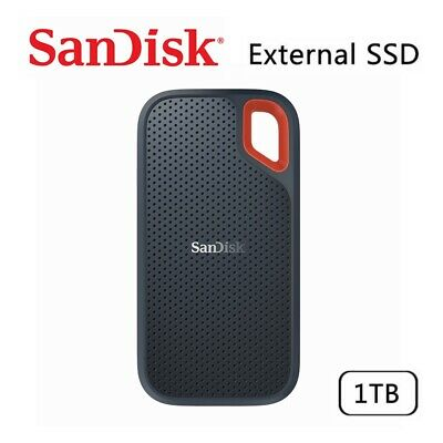 AU209.95 • Buy SSD SanDisk Extreme 1TB Portable External Solid State Drive USB3.1 Type-C 550MBs