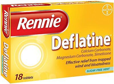 Rennie Deflatine - 18 Tablets For Trapped Wind And Bloating Sugar Free • 5.15£