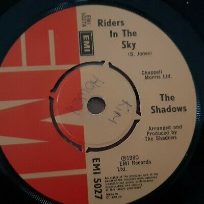 Riders In The Sky- The Shadows 7  Vinyl Single In VGC  • 4.99£