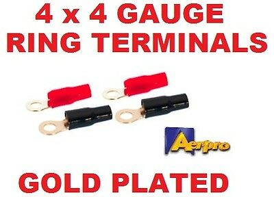 AU8.99 • Buy Aerpro Ap4grt 4 Ga Gauge Awg Ring Terminal Pack Of 4 Power Wire Battery Cable