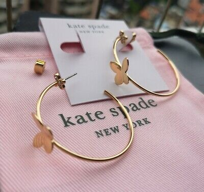 $ CDN27.56 • Buy Kate Spade New York In A Flutter Hoops Earrings