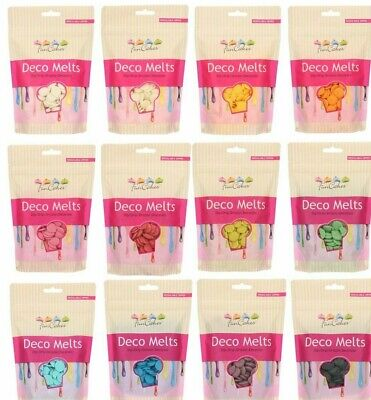 FunCakes Candy Melts  Deco Melts Cake Pop Chocolate Buttons 250g All Colours • 4.09£