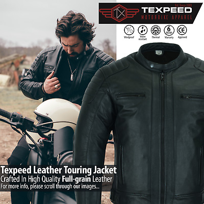 £82.99 • Buy Leather Motorbike Motorcycle Jacket Touring With Genuine CE Armour Biker Thermal