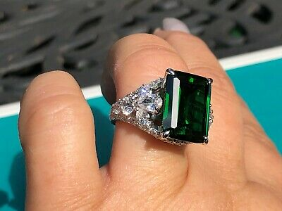 $120 • Buy Charles Winston For Bella Luce Simulated Emerald & White CZ 22.90 Ctw Ring