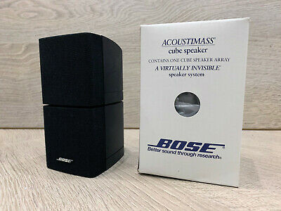 Boxed Bose Black Double Cube Speaker  Acoustimass 5 10 15 Lifestyle 18 28 Etc • 59£