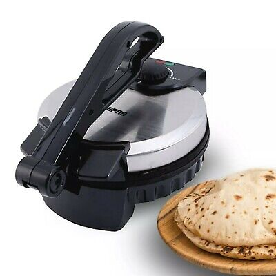 View Details Geepas Electric Chapati Maker Flat Bread Naan Tortilla Fulka Roti Press Machine  • 44.49£